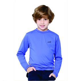 Camisa Infantil Com Proteção Solar Uv Fps50 Wheke Uv Rosa