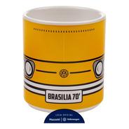 Caneca 70 Brasília Volkswagen Amarelo / Branco 270 Ml