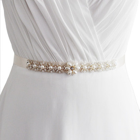 Faixa Cinto De Perola Vestido Para Noiva Branco Ou Off White