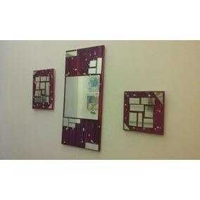 cuadro espejo trptico diseo moderno