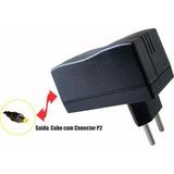 Fonte 5v 1,2a Saída P2 1,7mm Bivolt Tablet Modem Roteador
