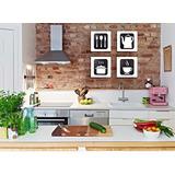 Quadros Decorativos Cozinha Mdf Pintura 30cm 4unid. Promoção