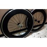 Rines Fibra De Carbono Para Ruta O Triatlon 88mm-oferta