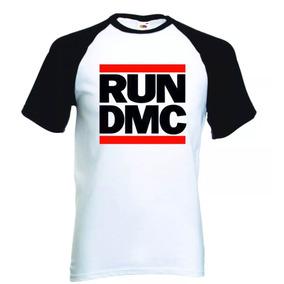 Camisa Camiseta Run Dmc Raglan Manga Curta Hiphop Rap