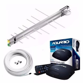 Kit Antena Uhf + Conversor Digital + Cabo De 15 M