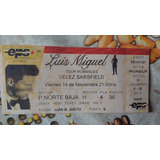 Entrada Antigua Recital Luis Miguel 1997