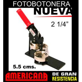 Prensa Fotobotón Publicitario 2 1/4 (5.5 Cms) Nueva!!