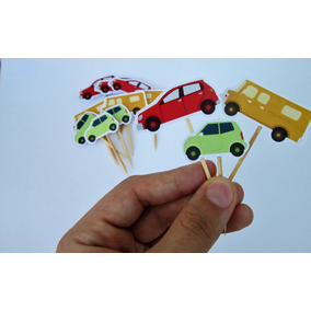 Toppers Postres Cars Carros Camionetas (docena)