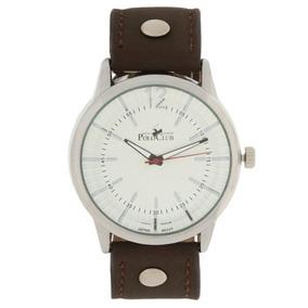 Reloj Análogo Mano Royal Polo Club Caballero Rlpc 2826a Cafe
