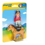 Playmobil 6973 1.2.3 Jinete Con Caballo