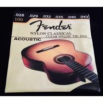 Encordoamento Violão Clássico Nylon Fender