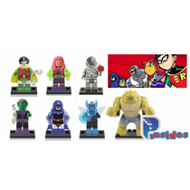 Kit Jovens Titãspadrão Lego Heróis Dc Robin Mutano Titans