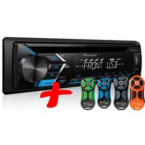 Rádio Pioneer Cd Player Deh-s1080ub Mp3+controle Longa Preto