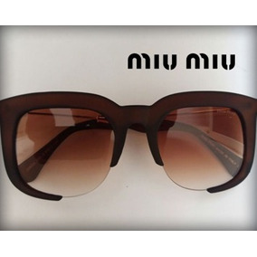 5b201f0f17719 Armacao Oculos Branco Miu Miu - Óculos no Mercado Livre Brasil