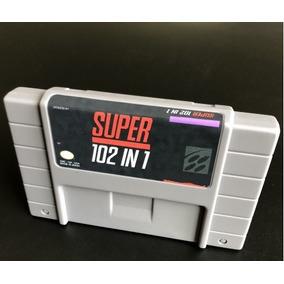 Cartucho Multijogos 102 Jogos Super Nintendo Snes