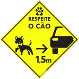 Adesivo Respeite O Cão 1,5 M Pet Shop Veterinárias