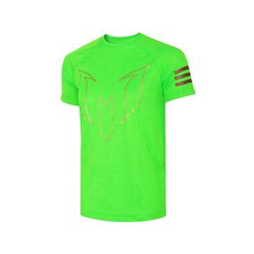 Playera adidas Futbol Yb Messi Niño - Verde