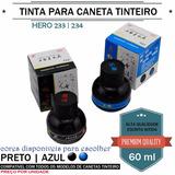 Kit Com 2 Vidros De Tinta 1 Azul + 1 Preta 60ml Cada