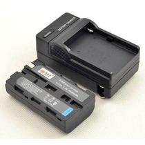 Bateria Np-f550 P/ Iluminador Led Cn160 Cn126 + Carregador