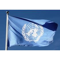 Bandera Onu Naciones Unidas Un 150por90cm Coleccion