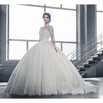 Vestido De Noiva Tomara Que Caia Longo Babado Rodado Luxo