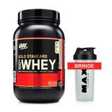 100% Whey Gold Standard Optimun Nutrition On 909g + Brinde
