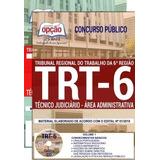 Concurso Trt-6 Reg 2018 Apostila Técnico Judiciário - Adm
