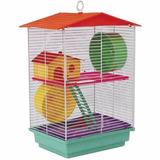 Gaiola Completa Dois Andares Hamster Roda Escada Casa