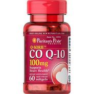 Coenzima Co Q-10 100mg 60 Softgel Importado Usa