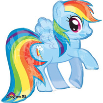 Globo Metálico Rainbowdash. Globo Grande. My Little Pony