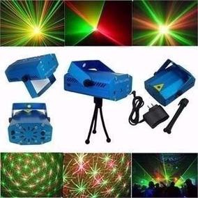Mini Laser Audioritmico Y Efecto Lluvia Estrella Verde Rojo