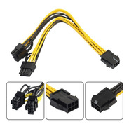 Cable Pcie Adaptador Splitter 6 A 2 X (6+2) 8 Pin Rig Riser