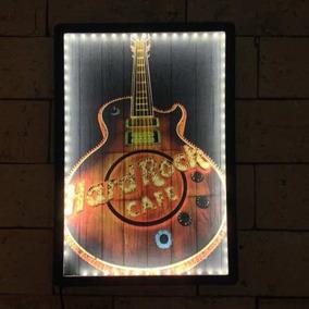 Quadro Led - Luminoso Bar - Hard Rock Café