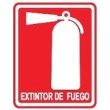 Señalización Extintor De Fuego 22x25 Cm
