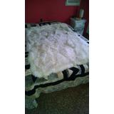 Alfombra Piel Oveja Cuero Cubre Cama Blanca 1.60 Por 1.15