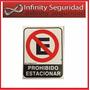 Cartel Prohibido Estacionar Hecho En Alto Impacto 22x28cm