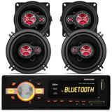 Mp3 Player Hurricane Hr-420 Bluetooth + Kit Alto Falante Uno
