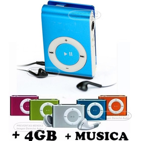 Reproductor Mp3 + 4gb De Memoria (interna) + Acesorios