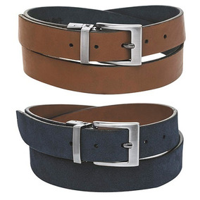 Cinturon Doble Vista Para Caballero Corte Piel Marca Flexi
