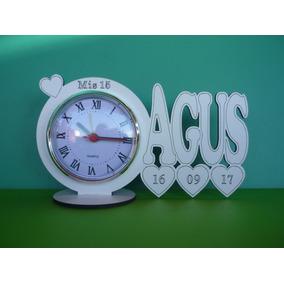 60 Souvenirs Reloj/nombre Personalizado 15 Años Bodas Cumple