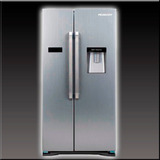 Heladera Side By Side No Frost Acero Inox. 544 Lts Peabody
