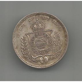 Moeda De Prata Do Brasil Império - 500 Réis - Ano De 1860 -