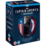 Coleccion Capitan America Bluray Original Solo En Ingles !!