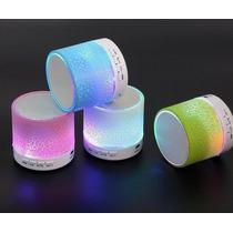 Nueva Mini Potente Bocina Bluetooth Luz Led Usb 3.5 Micro Sd