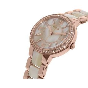 59a442fe6a1e Reloj Fossil Dama Acero Con Swarovsky Mod Es2879 - Reloj de Pulsera ...