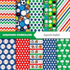 Kit Imprimible Pack Fondos Deportes Futbol Beisbol