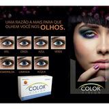 Lentes De Contato Coloridas Color Vision + Estojo Brinde