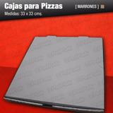 Cajas De Pizza Microcorrugado X 100 Super Reforzadas