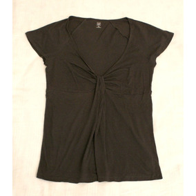 Remera De Mujer Marca Gap Talle M Gris Oscuro