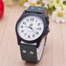 Relógio Masculino De Luxo Pulseira De Couro Bonito E Barato